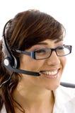 care cheerful customer executive female Στοκ Φωτογραφία