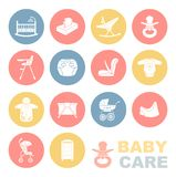 The care of the child.The icons set. Stock Images