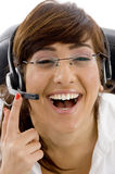 care customer executive female pleased Στοκ φωτογραφίες με δικαίωμα ελεύθερης χρήσης