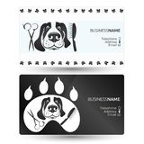 Dog care business card. Care for dogs and other animals visiting card Stock Photo