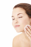 Care of a face skin Royalty Free Stock Image
