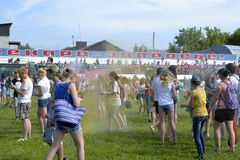 Care for a festival of paints in Tyumen, Russia. 20.06.2015. Stock Image