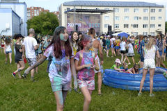 Care for a festival of paints in Tyumen, Russia. 20.06.2015. Stock Photos