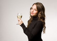 Care for a glass of wine? Stock Image