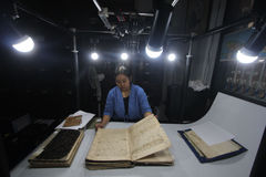 Care of Historical Manuscript kingdom of Surakarta Stock Photo