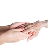 Care is at home of elderly Royalty Free Stock Photography