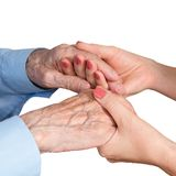 Care is at home of elderly Stock Photos