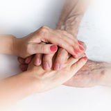 Care is at home of elderly Royalty Free Stock Image
