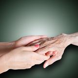 Care is at home of elderly Royalty Free Stock Images