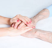 Care at home of elderly Stock Photos