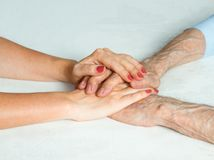 Care is at home of elderly Royalty Free Stock Photos