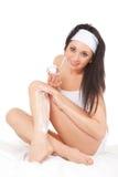 care hudkvinnan royaltyfri foto