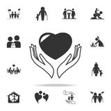 Care Icon. Detailed set of human body part icons. Premium quality graphic design. One of the collection icons for websites, web de. Sign, mobile app on white Stock Photo