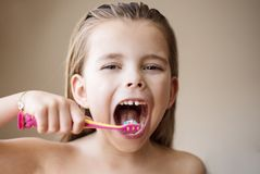 Care is important for teeth stock photography