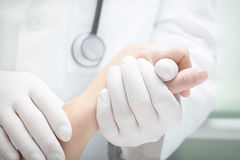 Care of incurable patient. Royalty Free Stock Photography