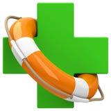 Care lifebelt medicine. 3d generated picture of a medicine care concept vector illustration