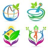 Care logos. A vector drawing represents care logos design royalty free illustration