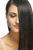 Daily care of long hair Royalty Free Stock Photo