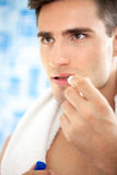 Care of man lips Royalty Free Stock Photo