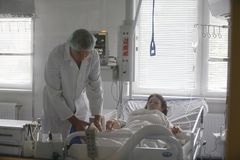 Care of the patient royalty free stock photos