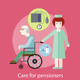 Care for Pensioners Stock Image