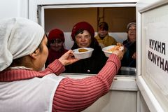 Care for the poor and homeless in Ukraine royalty free stock images