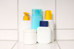 Care product containers Royalty Free Stock Photography