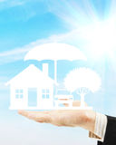 Care about property and material prosperity. Abstract conceptual image royalty free stock photography