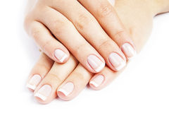 Care for sensuality woman nails Stock Image