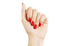 Care for sensuality woman nails Royalty Free Stock Images