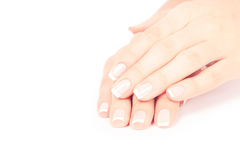 Care for sensuality woman nails Stock Photography