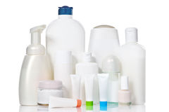 Care supplies with copyspace and clipping path Stock Images