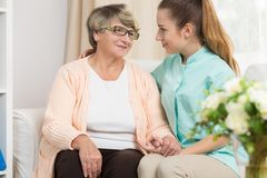 Care and support in rest home Stock Photography