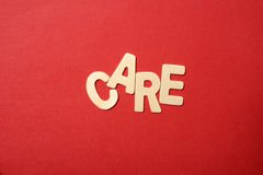 Care Text Royalty Free Stock Images