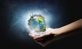 With care to our planet Stock Photo