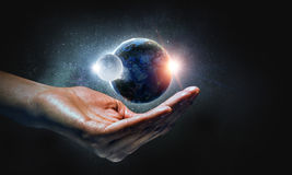 With care to our planet Stock Image