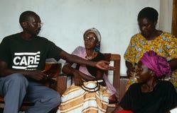 A CARE volunteer in Rwanda. Stock Images