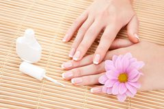 Care for woman hands Royalty Free Stock Image