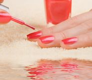 Care for woman nails Royalty Free Stock Photos