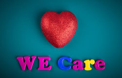 We care Royalty Free Stock Image