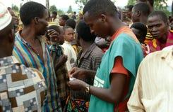 CARE worker in Burundi. Stock Images