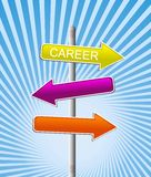 Career. Illustration of directional arrows pointing in opposite directions Royalty Free Stock Photography