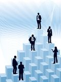 Career. People are standing on a large graph, conceptual business illustration Stock Images