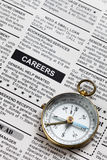 Career Ad. Fake Classified Ad, newspaper, business concept Stock Images
