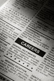 Career Ad. Fake Classified Ad, newspaper, business concept Royalty Free Stock Image