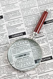 Career Ad. Fake Classified Ad, newspaper, business concept Royalty Free Stock Photo