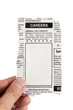 Career Ad. Fake Classified Ad, newspaper, Career concept Stock Photo