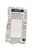 Career Ad. Fake Classified Ad, newspaper, Career concept Stock Image