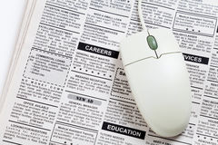 Career Ad. Fake Classified Ad, newspaper, job concept Royalty Free Stock Image