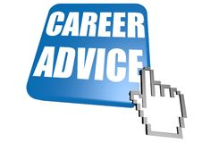 Career advice button with cursor Stock Photography